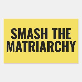 Adesivo Retangular Quebra o Matriarchy