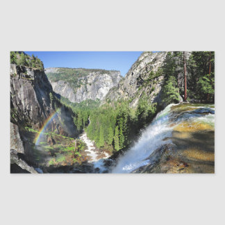 Adesivo Retangular Queda Vernal da parte superior - Yosemite