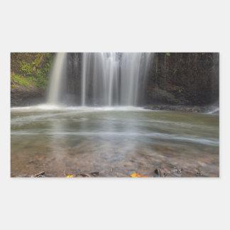 Adesivo Retangular Quedas escondidas no Outono de Clackamas Oregon