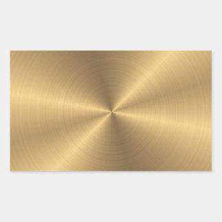 Adesivo Retangular Radial metálico personalizado do ouro de aço