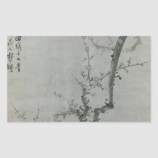 Adesivo Retangular Ramo da ameixa - Yi Yuwon