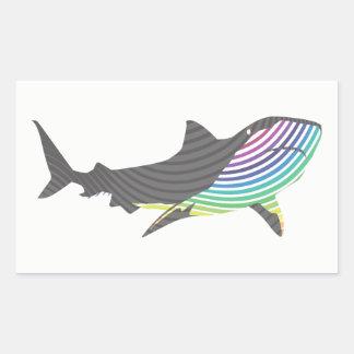 Adesivo Retangular Redemoinho do tubarão da cor