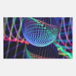 Adesivo Retangular Redemoinhos e linhas na bola de vidro