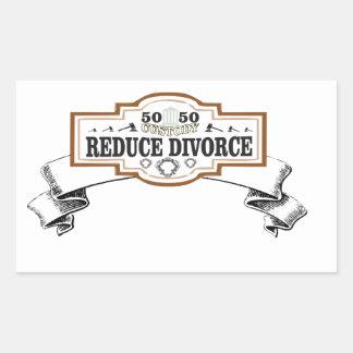 Adesivo Retangular reduza a custódia 50 do divórcio 50