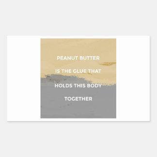 Adesivo Retangular Regras da manteiga de amendoim