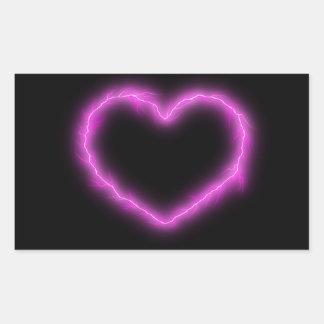 Adesivo Retangular Relâmpago do coração