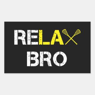 Adesivo Retangular Relaxe o Lacrosse engraçado de Bro