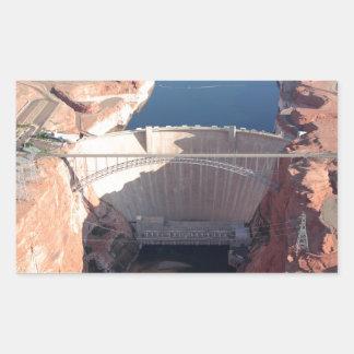 Adesivo Retangular Represa da garganta do vale e ponte, arizona