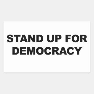 Adesivo Retangular Represente acima a democracia