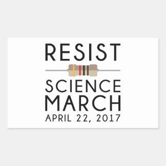 Adesivo Retangular Resista a ciência março