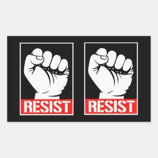 Adesivo Retangular RESISTA O PUNHO - TRUNFO DE RESUST -- Nenhuma