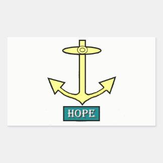Adesivo Retangular Rhode - âncora da esperança da ilha