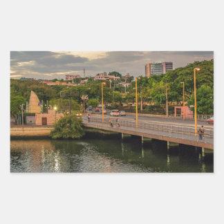 Adesivo Retangular Rio Guayaquil Equador de Estero Salado