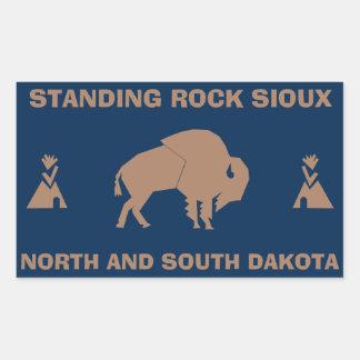 Adesivo Retangular Rocha ereta Sioux