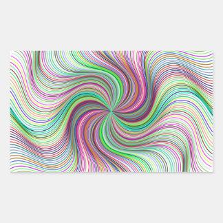 Adesivo Retangular Roda colorida do redemoinho de prisma do arco-íris