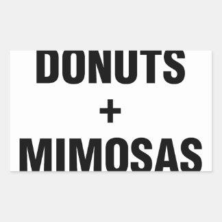 Adesivo Retangular Rosquinhas & Mimosas