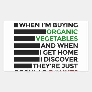 Adesivo Retangular Rosquinhas orgânicas do amor dos vegetais