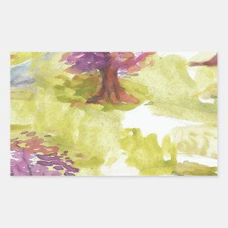 Adesivo Retangular sakura
