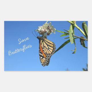 Adesivo Retangular Salvar borboletas