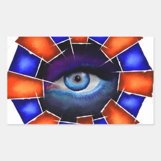 Adesivo Retangular Salvenitus - olho de observação