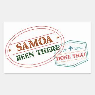 Adesivo Retangular Samoa feito lá isso