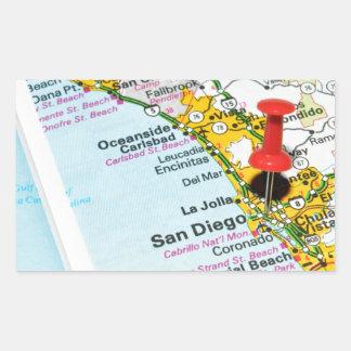 Adesivo Retangular San Diego, Califórnia