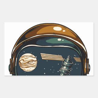 Adesivo Retangular satélite da NASA e a lua