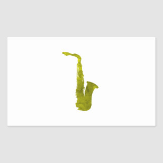 Adesivo Retangular Saxofone