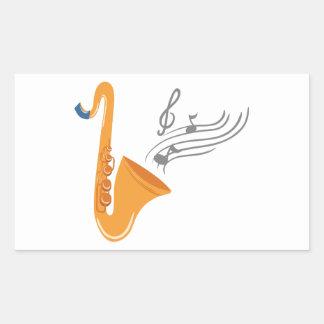 Adesivo Retangular Saxofone do saxofone de Saxophon