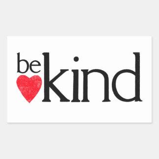 Adesivo Retangular Seja amável - matérias da bondade