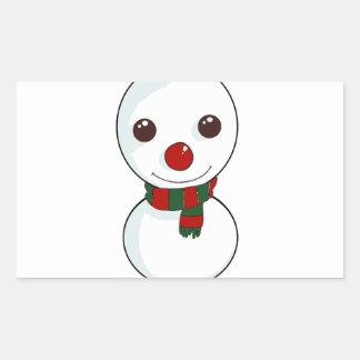 Adesivo Retangular seja meu boneco de neve
