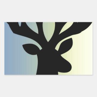 Adesivo Retangular Seja sombra brava da cabeça dos cervos