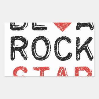 Adesivo Retangular Seja uma estrela do rock