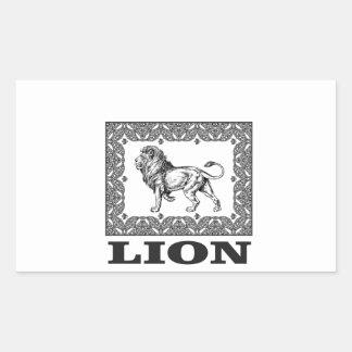Adesivo Retangular selo do leão