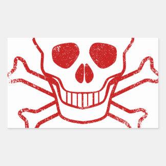 Adesivo Retangular Selo vermelho da tinta do veneno