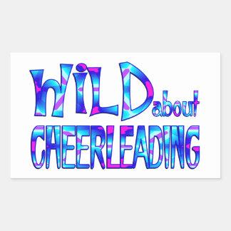 Adesivo Retangular Selvagem sobre Cheerleading