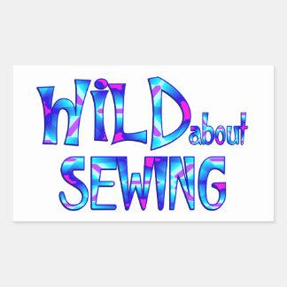 Adesivo Retangular Selvagem sobre Sewing