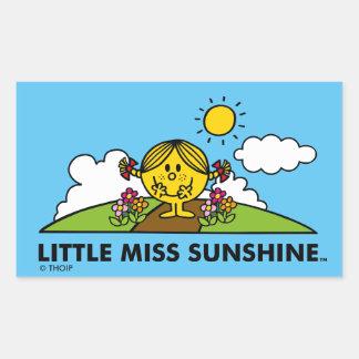 Adesivo Retangular Senhorita pequena Luz do sol | de volta à natureza