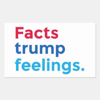 Adesivo Retangular Sentimentos do trunfo dos fatos