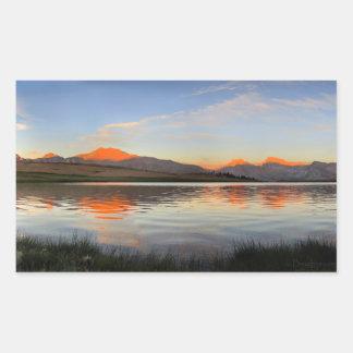 Adesivo Retangular Serra por do sol da crista - fuga de John Muir