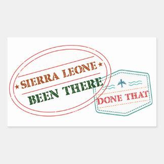 Adesivo Retangular Sierra Leone feito lá isso
