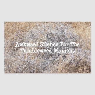 Adesivo Retangular Silêncio inábil para o momento do amaranto