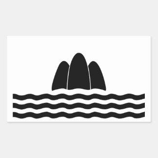 Adesivo Retangular Símbolo da província da ilha da região da bandeira