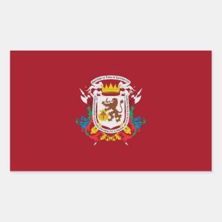Adesivo Retangular símbolo de venezuela da bandeira da cidade de