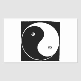 Adesivo Retangular Símbolo de Yin Yang do chinês