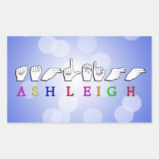 ADESIVO RETANGULAR SINAL CONHECIDO DE ASHLEIGH FINGERSPELLED ASL