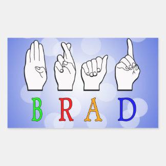 ADESIVO RETANGULAR SINAL CONHECIDO DE BRAD FINGGERSPELLED ASL SURDO
