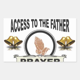 Adesivo Retangular sinos do acesso da oração