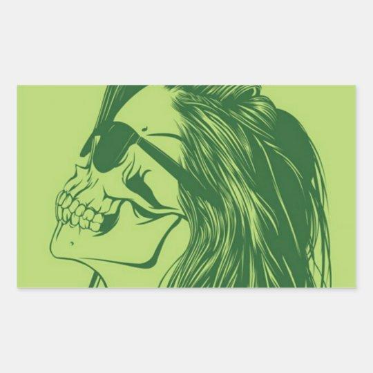 Adesivo Retangular SkullGirl