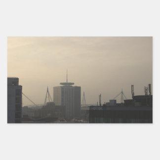 Adesivo Retangular Skyline da cidade de Cardiff